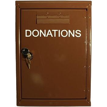Amazon Com Outdoor Locked Donation Box With Rain Flap