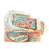 Genuine Leather Nocona Paisley Power - Womens Belt (Large)