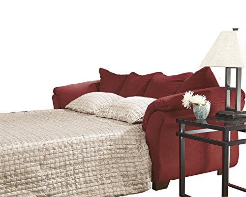 Ashley Furniture Signature Design - Darcy Sleeper Sofa - Full Size - Ultra Soft Upholstery - Contemporary - Salsa