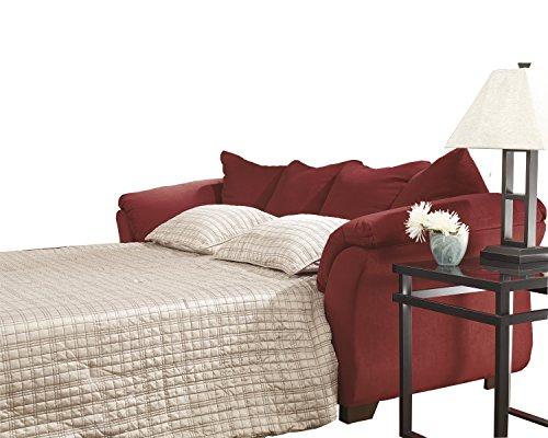 Microfiber Sleeper Full - Ashley Furniture Signature Design - Darcy Sleeper Sofa - Full Size - Ultra Soft Upholstery - Contemporary - Salsa