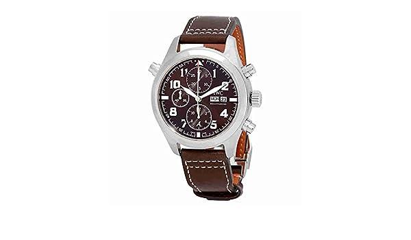 buy popular 26265 f3adc Amazon.com: IWC Pilot Double Chronograph Automatic Mens ...