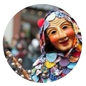 alfombrilla de ratón Máscara desfile en el carnaval histórico en Freiburg, Alemania - ronda - 20cm
