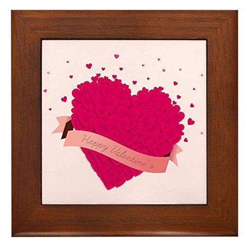 Tile Valentine (Framed Tile Happy Valentine's Day Hearts)
