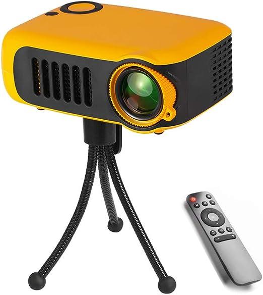 Jiadi Mini proyector, proyector LED portátil con trípode ...