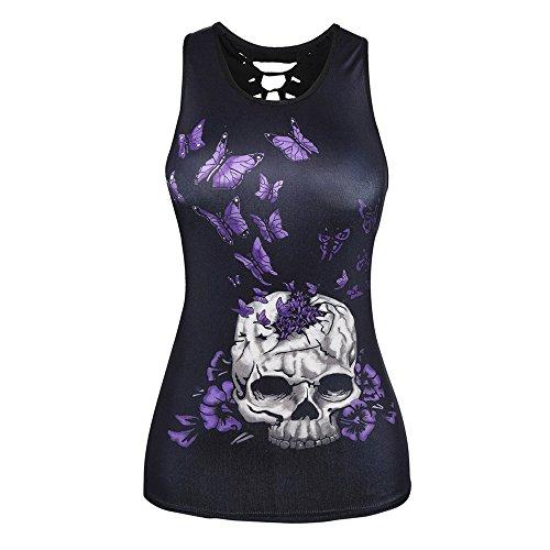 Blusa V Bazhahei Top Camisetas Transpirable Esmalte Sin Vendaje Black Y Ropa Estampada 4 Mujer Confort Camis En Estampado Cuello Chaleco De Mangas Con Awr7q6A