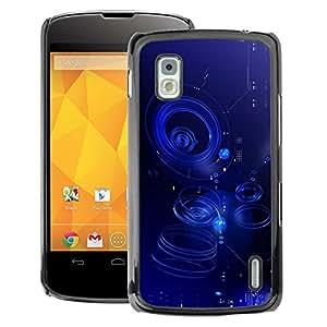 A-type Arte & diseño plástico duro Fundas Cover Cubre Hard Case Cover para LG Nexus 4 E960 (Ripple Blue Water Abstract Puddle)