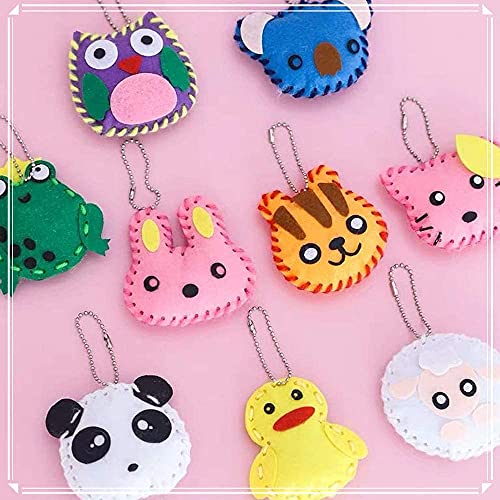 Kids Sewing Kit for Girls, Felt Animal DIY Crafts for Girls and Boys Educational Sewing for Kids Art Craft Kits for Beginners