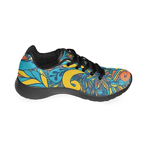 Scarpa Da Running Da Donna Di Interestprint Da Jogging Leggera Sportiva Da Passeggio Sneaker Da Atletica Leggera E Fiori Fantasia Multi 1