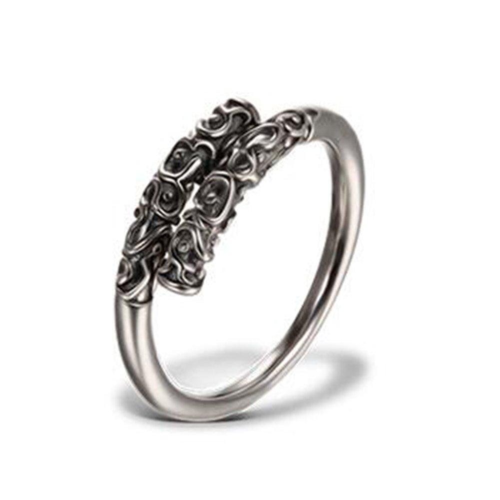 Impression 1pcs Anelli Anello retrò anello di diamanti di moda anello di vetro Girl Accessori della gioielli festa di San Valentino regali di matrimonio anello aperto Silver YXYP