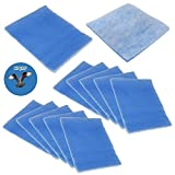 HQRP Replacement Polyester Filters (pack of 12) for BetterVent Indoor Dryer Vent ADR1BVC + HQRP Coaster