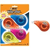 BIC Clean Wite-Out Brand EZ Correct Correction Tape, 4-Count, 5.25 x .75 x 8.125 (WOTAPP418-WHI)