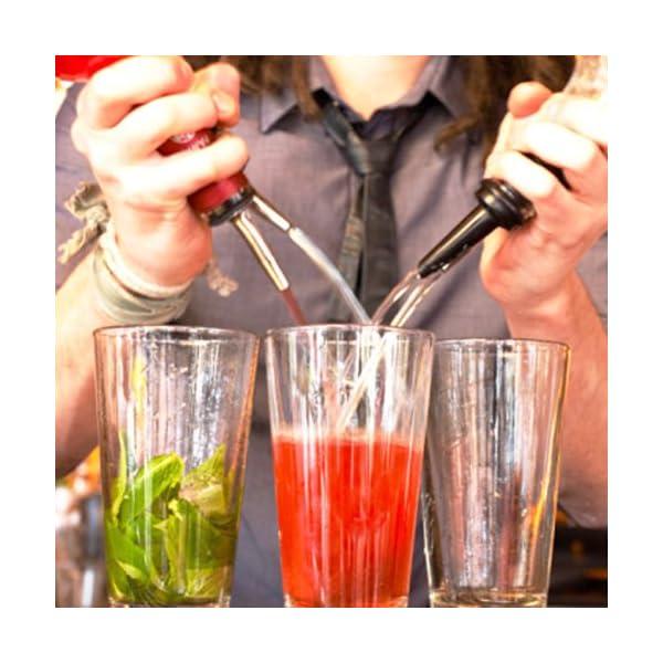 Sonline 5 Pz Chrome Tapered Freeflow bottiglia del liquore Cocktail versatori Spirito Oil 7 spesavip
