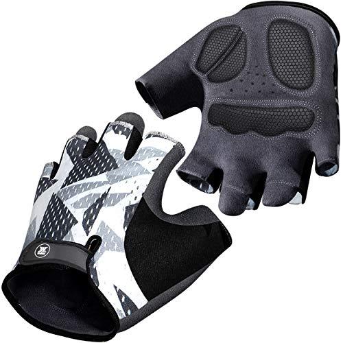 Mountain Bike Gloves for Men Women - Full-Palm Protection Cycling Gloves - Biking Gloves Fingerless Bicycle Gloves Men - Longwearing - Non-Slip Cycle Gloves Men - Half Finger Bicycling Gloves