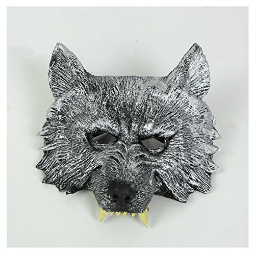 (Halloween cosplay costume Masquerade party mask terrorist cosplay werewolves display stage decoration wolf)