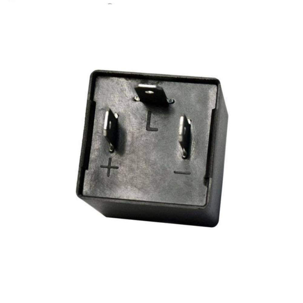 Sizet Sizet Electronic LED Flasher Relay Fix CF13 12V 0.02A ~ 20A For Motorcycle Turn Signal Indicator Hyper Flash Fix