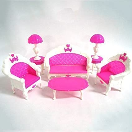Amazon.com: WEIYI Creative Barbie Doll House Living Room ...