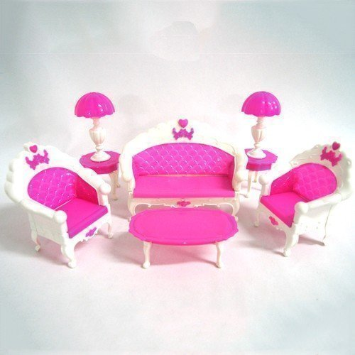 YOIOY Fashion Barbie Doll House Living Room Furniture Table Playset ()