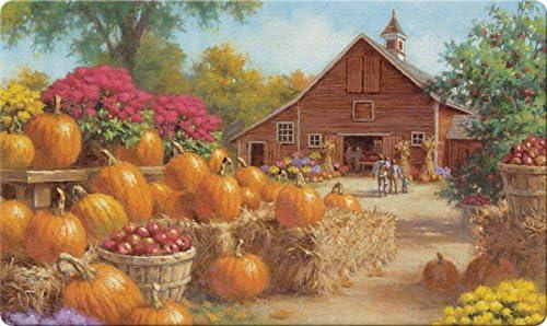 Toland Home Garden Farm Glory 18 x 30 Inch Decorative Fall Harvest Floor Mat Autumn Pumpkin Doormat