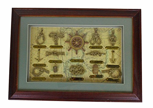 "20"" Wooden Nautical Knot Board Shadow Box Wall Decor"