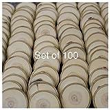 Set of 100 3''-3.5'' Wood Slices (Aspen) - Rustic Wedding Favors - Tree Slices - Wood Discs - Tree Log Coasters - Craft Pieces - Coasters