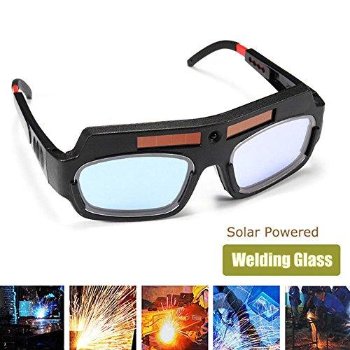 Wishlink Solar Powered Safety Goggles Auto Darkening Welding Eyewear Eyes Protection Welder Glasses