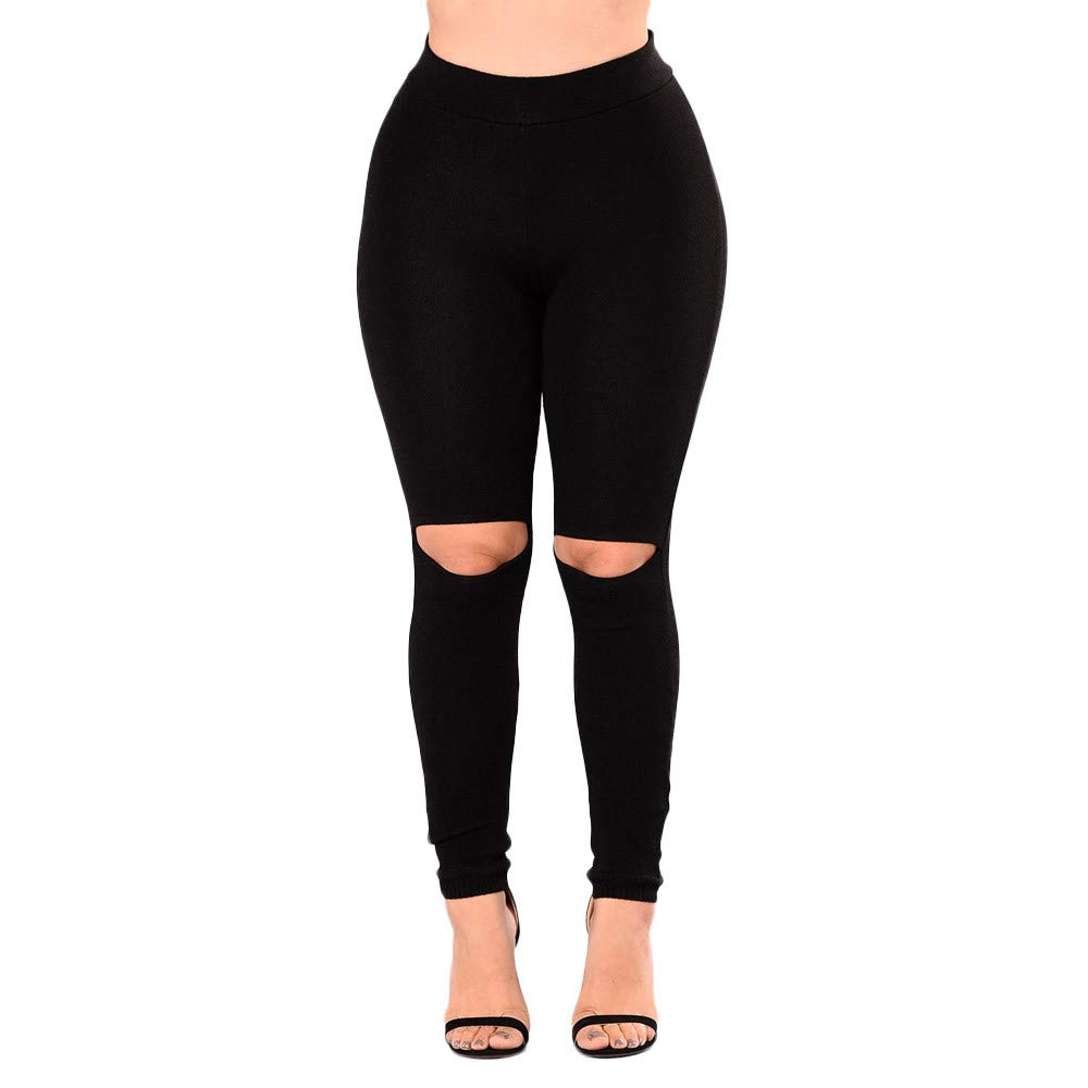 iLUGU Womens Fashion Workout Leggings Work Out Pants Fitness Yoga Sheer Sports Running Athletic Solid