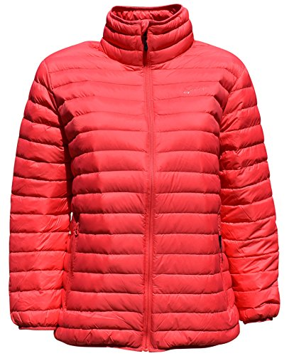 Juicy Coat - SportCaster Women's Plus Size Packable Down Jacket (2X, Juicy Melon)