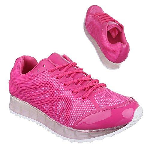zapatos Design de tiempo rosa libre Rosa Ital Mujer F5qR8En