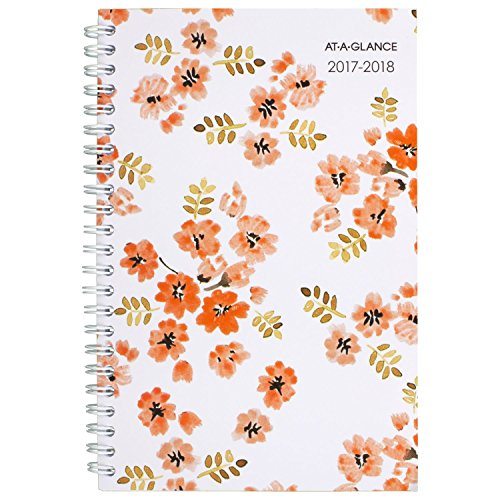"AT-A-GLANCE Academic Weekly / Monthly Planner, July 2017 - June 2018, 4-7/8"" x 8"", Penelope (1021-200A)"