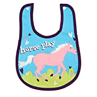 Little Blue House by Hatley Meal Time Bib - Horse Play