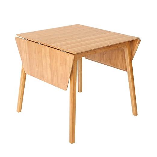 mesa plegable ZZHF Mesa de Madera de bambú portátil/Mesa de ...