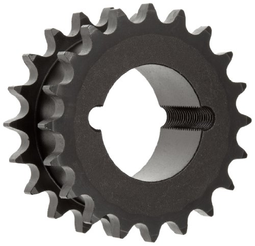 """Martin Roller Chain Sprocket, Hardened Teeth, Taper Bushed, Type A Hub, Double Single Strand, 40 Chain Size, For 1615 Bushing, 0.5"""" Pitch, 24 Teeth, 1.625"""" Max Bore Dia., 4.1"""" OD, 3.09375"""" Hub Dia., 1.40625"""" Width"""