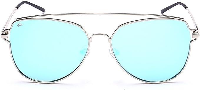 Mirrored Oversize Aviator Clear Transparent Designer celebrity Style Sunglasses