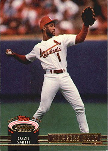 Ozzie Smith Career (1992 Stadium Club Members Only #32 Ozzie Smith/(7,000th Career Assist) - NM-MT)