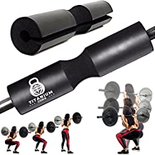 TitaniumCore Barbell Squat Pad - Thick Sponge Foam Cushion to Protect Your Neck and Shoulder No More Pain Lifting & Add More Weight on Bar to Activate Glutes When Doing Hip Thrust/Thruster Workout