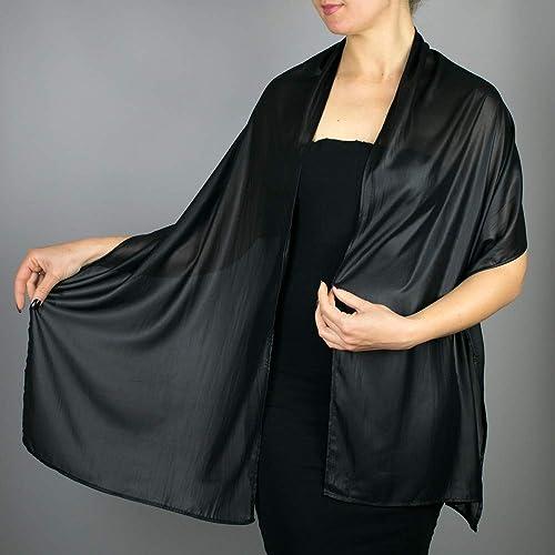 Chal Chiffon Color Negro Novia Boda Fiesta Para Vestido