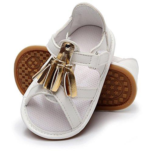 8c3c956aa98e1e HONGTEYA Baby Girl Summer Princess Dress Sandals Tassel Infant Shoes PU  Leather Rubber Soled Toddler Moccasins