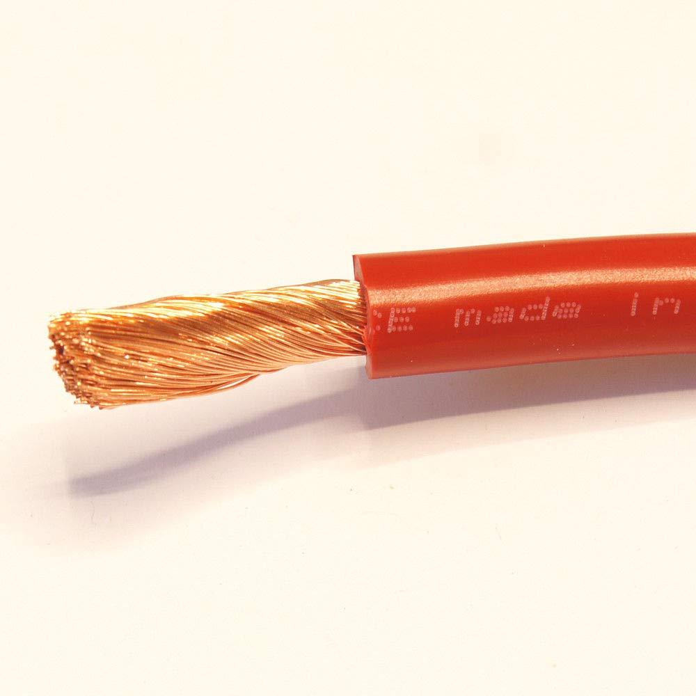 Rouge et Noir batterie//Starter//soudure PVC souple Fil de c/âble 110//170//345/Amp 16/mm 25/mm 35/mm par Mkgt/®