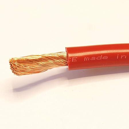 MKGT® - Cable flexible de PVC para batería de arranque/soldadura (1000/170/345 Amp, 16 mm, 25 mm, 35 mm), color rojo y negro