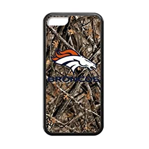 Hoomin Confederal Camo Denver Broncos iPhone 5C Cell Phone Cases Cover Popular Gifts(Laster Technology)