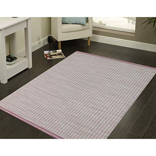 Magi Hand-Woven Sunset Pink New Zealand Wool Rug - 8' x 10' (8' New Zealand Wool)
