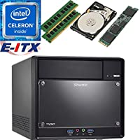 Shuttle SH110R4 Intel Celeron G3930 (Kaby Lake) XPC Cube System , 32GB Dual Channel DDR4, 120GB M.2 SSD, 1TB HDD, DVD RW, WiFi, Bluetooth, Pre-Assembled and Tested by E-ITX