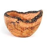Handcarved Fruit Bowl, Kitchen Fruit Bowl - Rustic Round Fruit Bowl, Large Wooden Bowl / Olive Wood Handcrafted Bowl