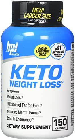 BPI Sports Ketogenic Weight Loss Supplement , 150 Count, New Larger Size, Our #1 Ketogenic Weight Loss Formula