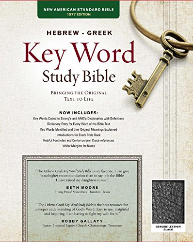 The Hebrew-Greek Key Word Study Bible: NASB-77 Edition, Black Genuine (Key Word Study Bibles) by Amg Publishers