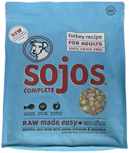 Sojos Turkey Recipe Complete Adult Dog Food, 7 lb