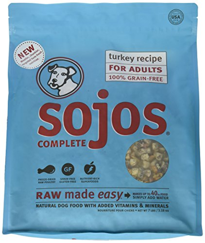 Complete Turkey - Sojos Turkey Recipe Complete Adult Dog Food, 7 lb
