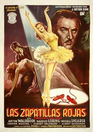 Amazon.com: The Red Shoes Poster Movie Spanish 11x17 Anton Walbrook Moira Shearer Marius Goring Leonide Massine: Prints: Posters & Prints