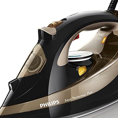 Philips GC4527/00 Dampfbügeleisen Azur Performer Plus (2600 W, 220g Dampfstoß, T-Ionic-Glide Bügelsohle, integrierte Kalkkassette) schwarz/gold 3