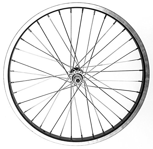 "BMX / Kids Bike Front Wheel 20"" 3/8"" Nutted Axle 36h Aluminum Alloy BLK/SILV New"
